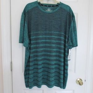 NEW Men's Zelos striped Flex athletic shirt 2X